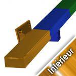 Main courante acier en kit - GRIS ANTHRACITE RAL 7016