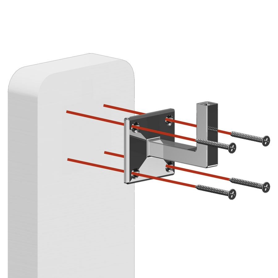 Main courante acier en kit - NOIR RAL 9005