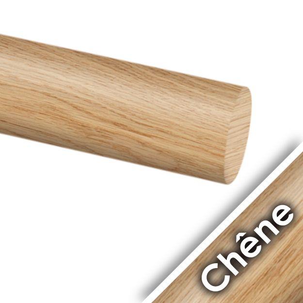 Main courante chêne brut
