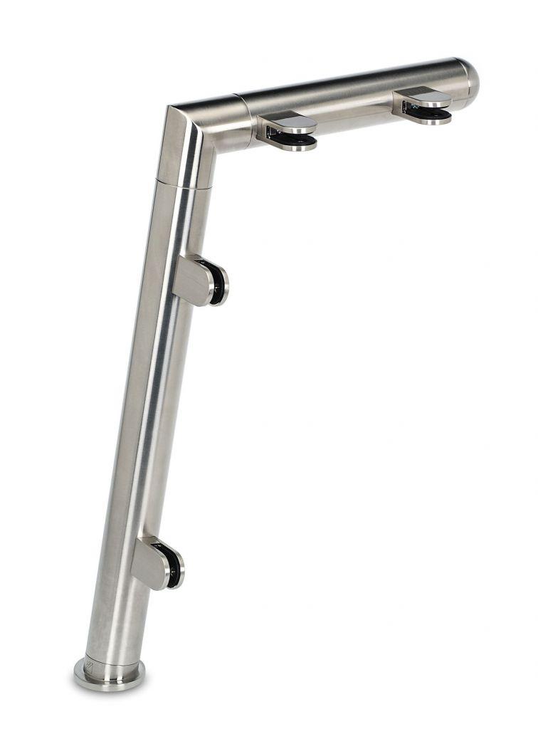 Modèle 901 - fixation invisible - Ø 38,1 mm - Aspect inox brossé