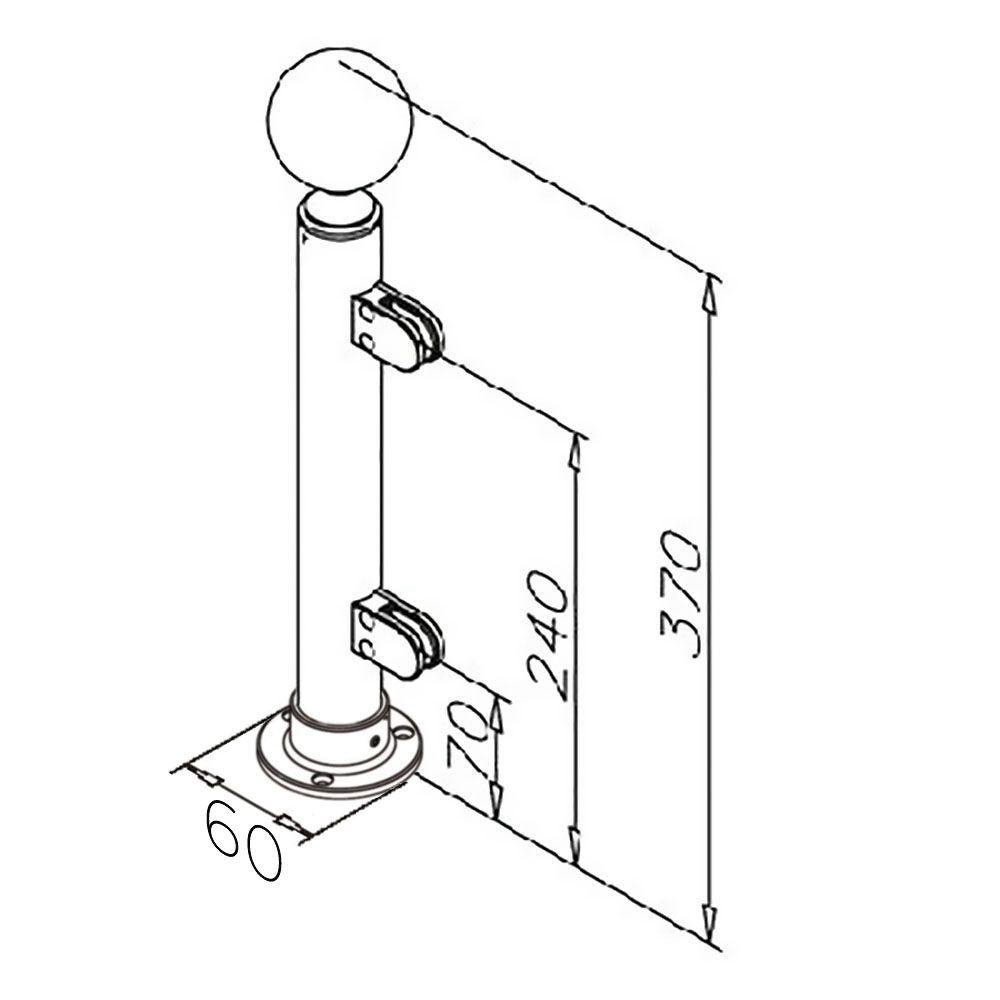 Modèle 902 - fixation 3 points - Ø 25,4 mm - Aspect laiton poli