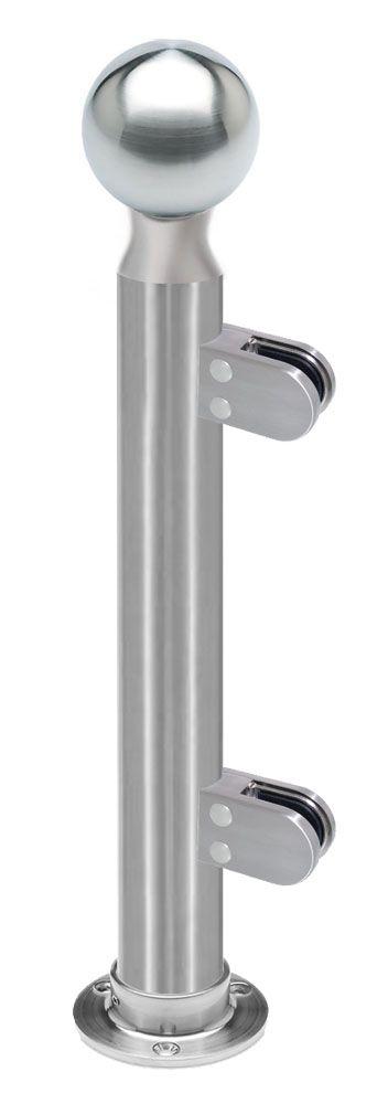 Modèle 902 - fixation 3 points - Ø 38,1 mm - Aspect inox brossé