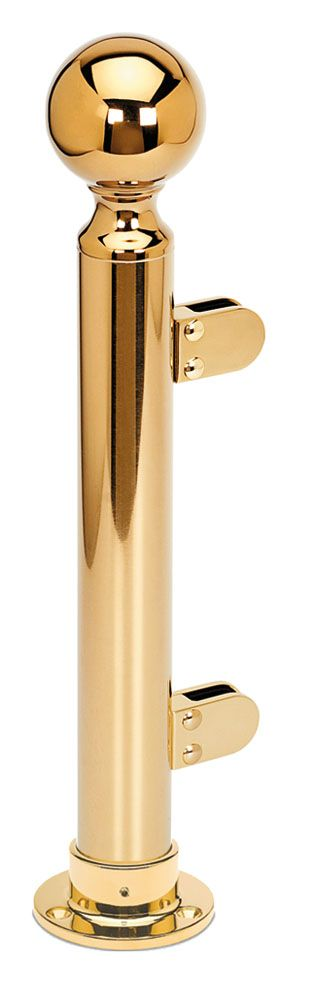 Modèle 902 - fixation 3 points - Ø 38,1 mm - Aspect laiton poli