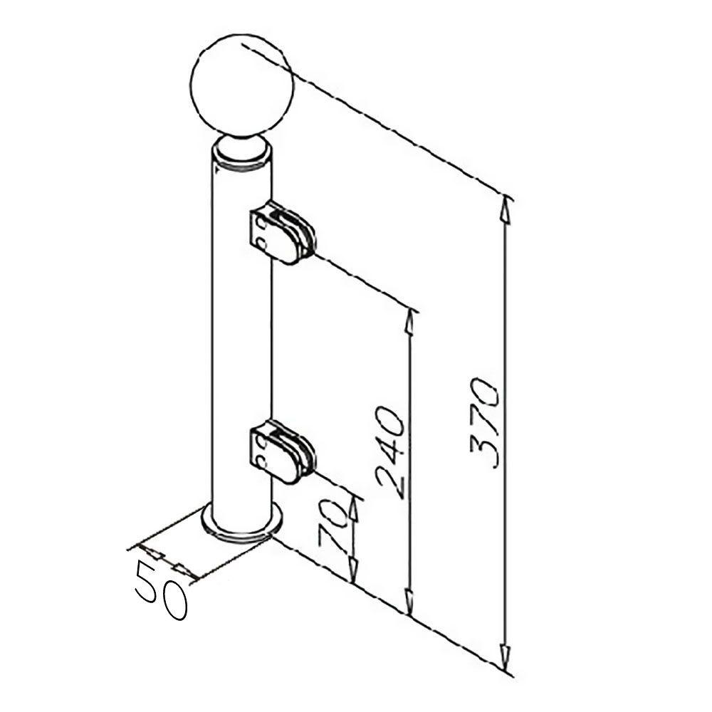 Modèle 902 - fixation invisible - Ø 38,1 mm - Chromé brillant