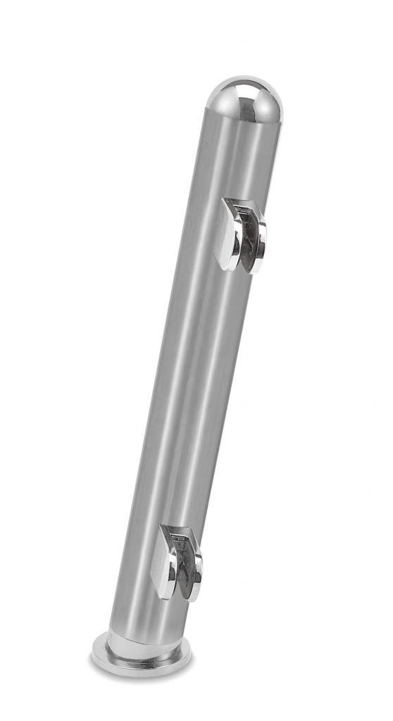 Modèle 905 - fixation invisible - Ø 25,4 mm - Aspect inox brossé
