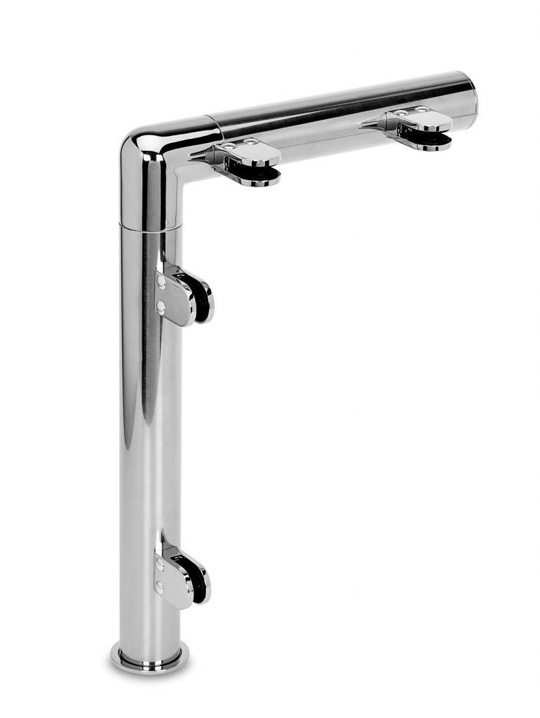 Modèle 908 - fixation invisible - Ø 38,1 mm - Chromé brillant