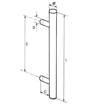 Paire de bâton maréchal aluminium RAL à définir