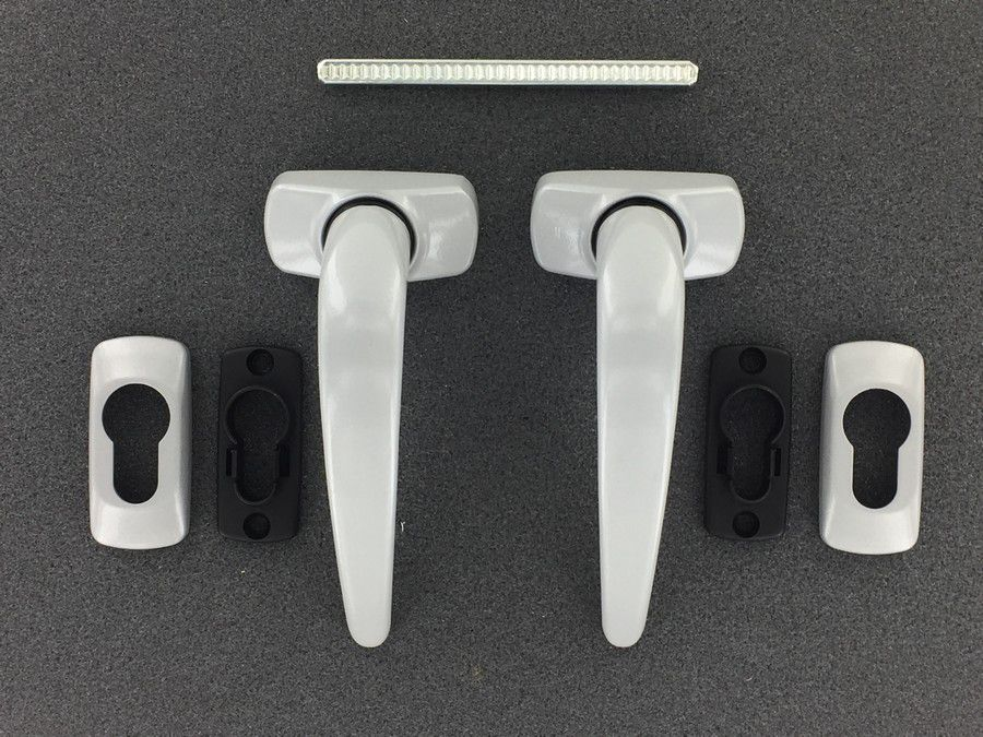 Paire de béquille Alu pour porte métallique ou aluminium