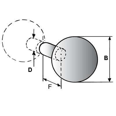 Paire de poignée sphère série 8250 - inox poli