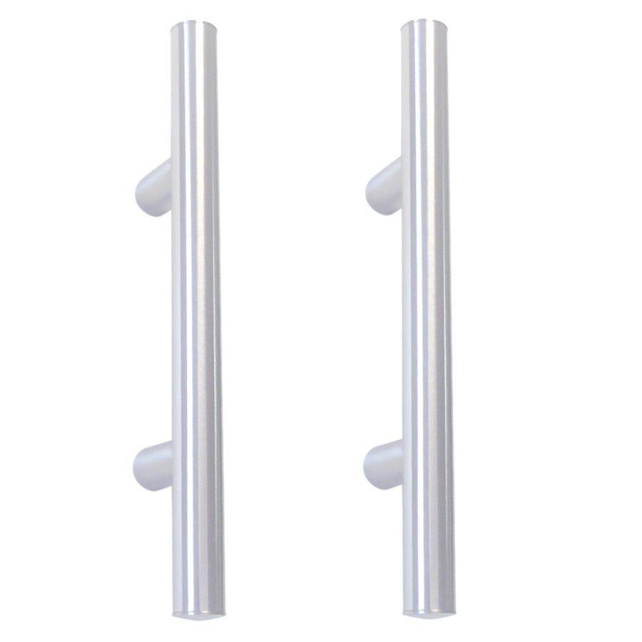 Paire de poignées bâton maréchal aluminium anodisé naturel