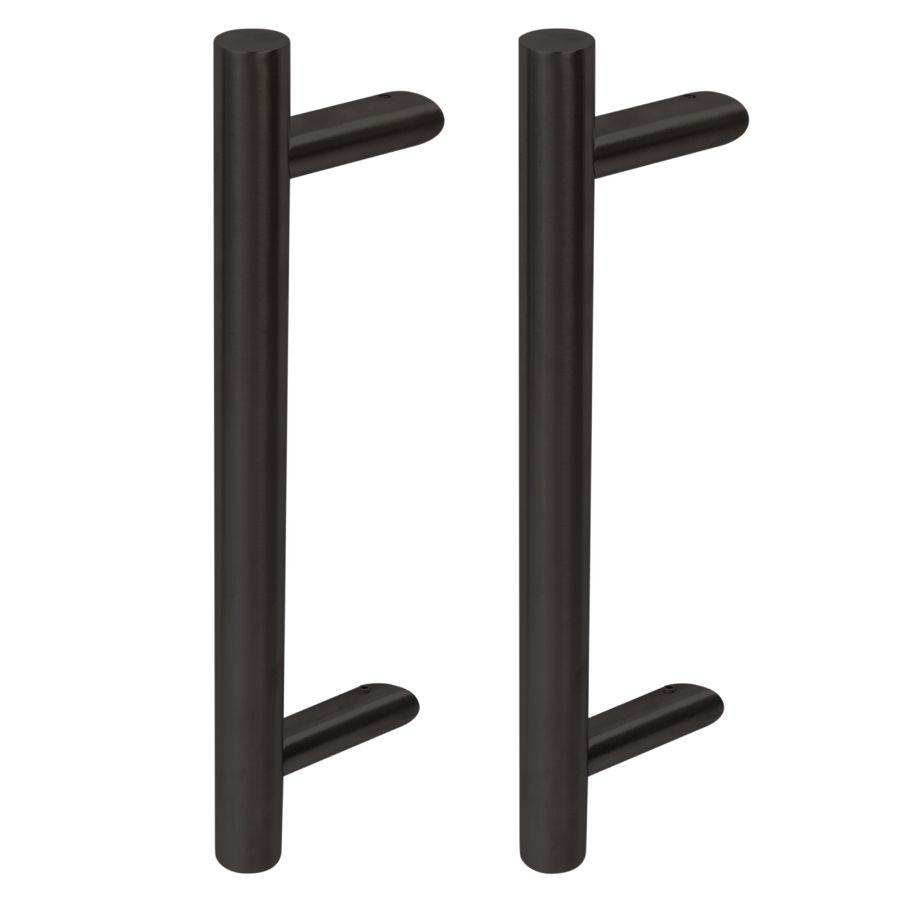Paire de poignées bâton maréchal désaxées aluminium RAL à définir