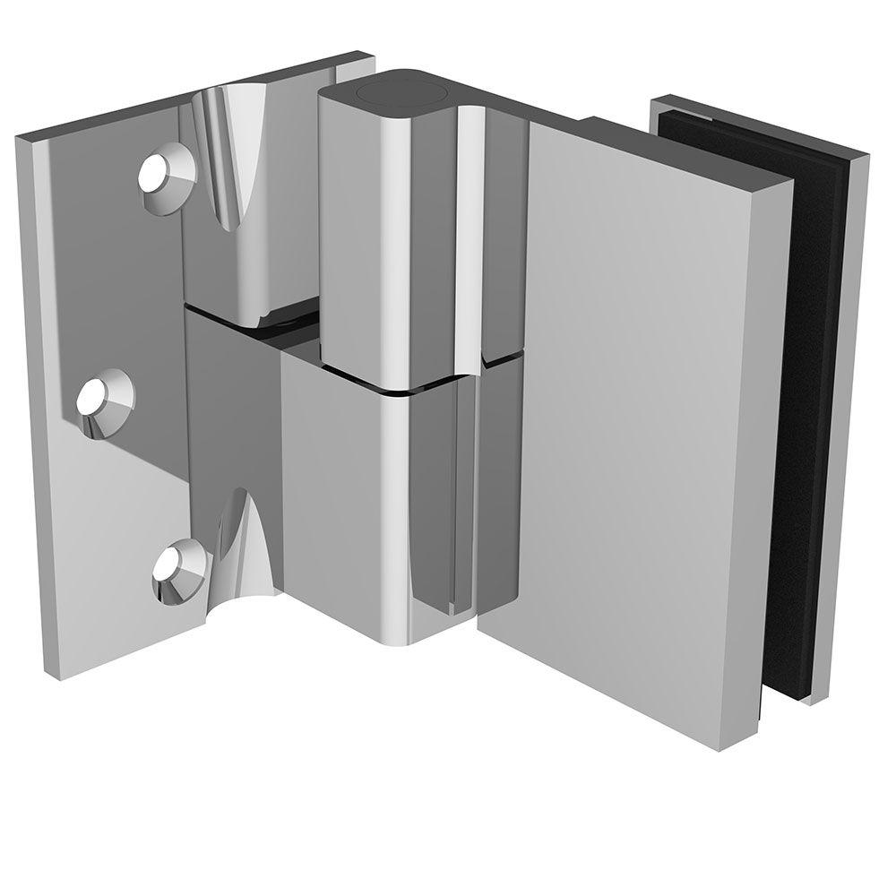 Penture simple action verre/mur 90° - Fixation extérieure - Ouverture gauche tirant