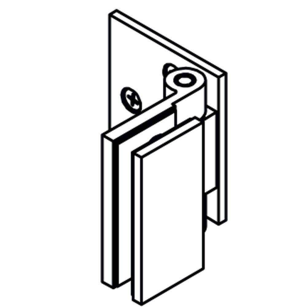 Penture simple action verre/mur 90° - Ouverture simple action intérieure