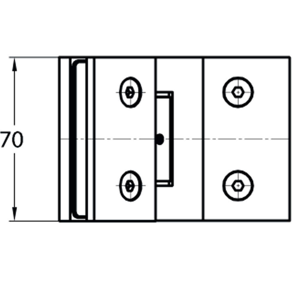 Penture simple action verre/verre 135° - Ouverture simple action extérieure