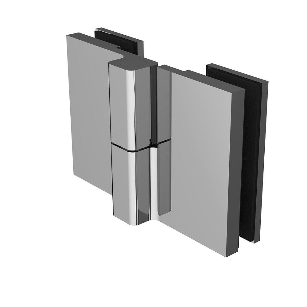 Penture simple action verre/verre 135° ou 180° - Ouverture droite tirant