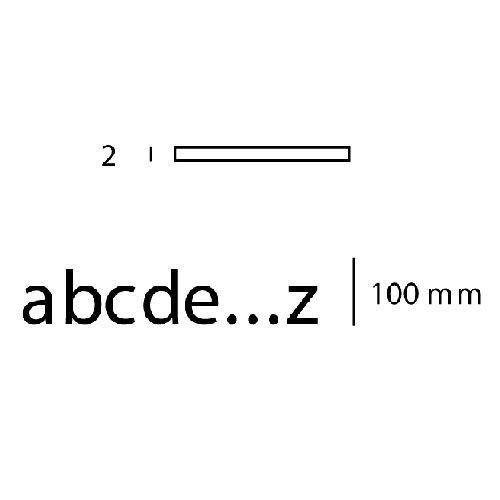 Pictogramme lettre minuscule sur adhésif - Hauteur 100 mm