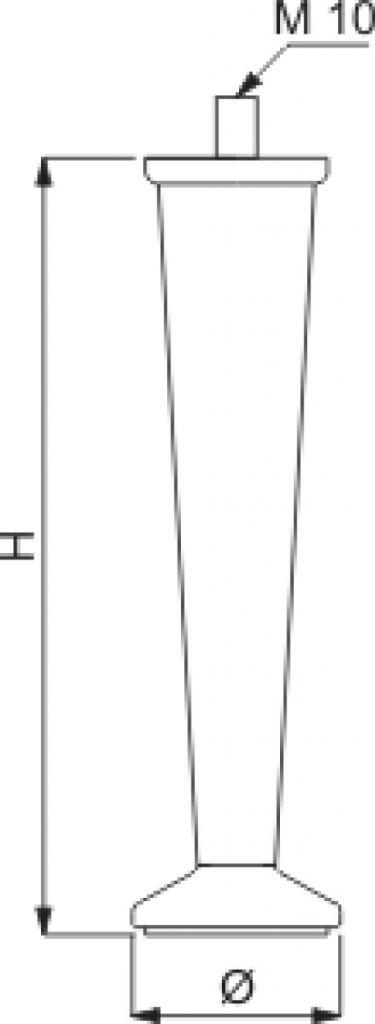 Pied de meuble conique