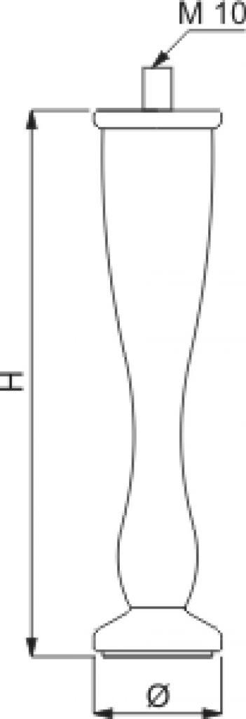 Pied de meuble double cône