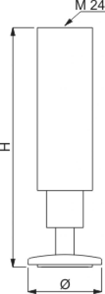 Pied de meuble triple diamètre