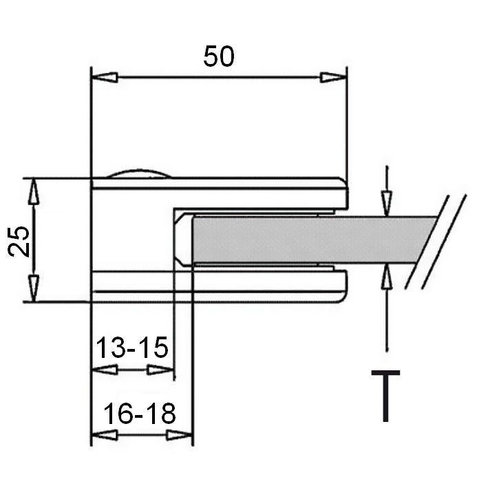 Pince à verre - Modèle 10 - 40 x 50 mm - sans caoutchouc