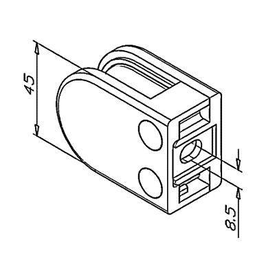 Pince à verre - Modèle 25 - 45 x 63 mm - sans caoutchouc