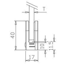 Pince à verre INOX 304 - Brossé GR 320