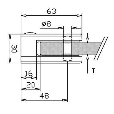 Pince à verre INOX 316 - Brossé GR 320