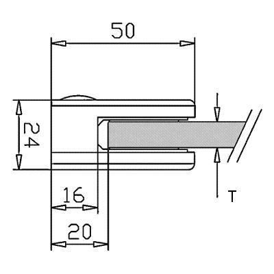 Pince à verre INOX 316 - Poli miroir