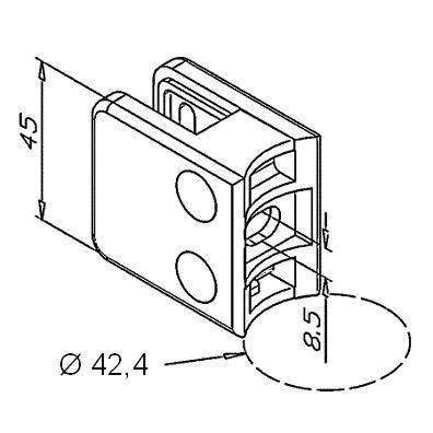 Pince à verre Modèle 21 - 45 x 45 mm - sans caoutchouc