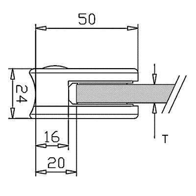 Pince à verre ZAMAC - Aspect laiton poli