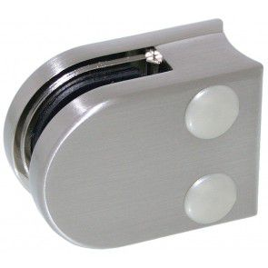 Pince à verre Zamac Aspect inox brossé - Modèle 00 - 40 x 50 mm
