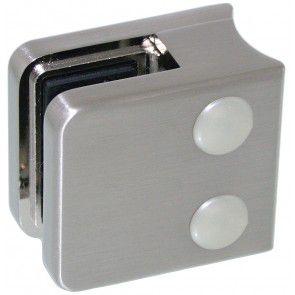 Pince à verre Zamac Aspect inox brossé - Modèle 01 - 45 x 45 mm