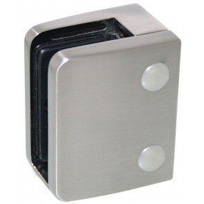 Pince à verre Zamac Aspect inox brossé - Modèle 04 - 70 x 55 mm