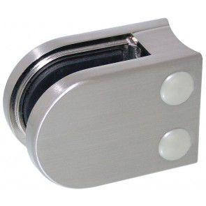 Pince à verre Zamac Aspect inox brossé - Modèle 05 - 45 x 63 mm