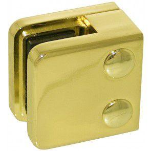 Pince à verre ZAMAC Aspect laiton poli - Modèle 01 - 45 x 45 mm