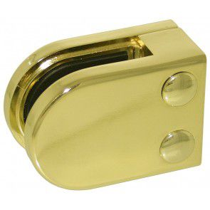 Pince à verre Zamac Aspect Laiton Poli - Modèle 02 - 45 x 63 mm