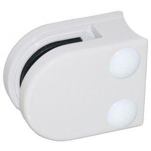Pince à verre Zamac blanc 9016 - Modèle 00 - 40 x 50 mm
