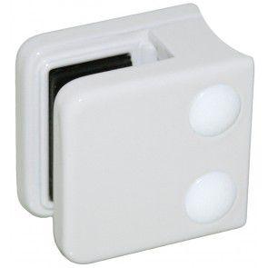 Pince à verre Zamac blanc 9016 - Modèle 01 - 45 x 45 mm