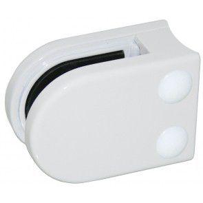Pince à verre Zamac blanc 9016 - Modèle 02 - 45 x 63 mm