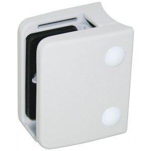 Pince à verre Zamac Blanc 9016 - Modèle 04 - 70 x 55 mm