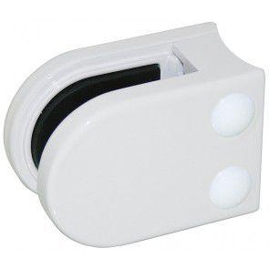 Pince à verre Zamac blanc 9016 - Modèle 05 - 45 x 63 mm
