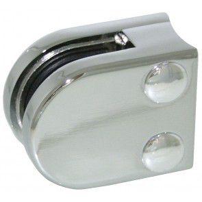 Pince à verre Zamac chromé brillant - Modèle 00 - 40 x 50 mm
