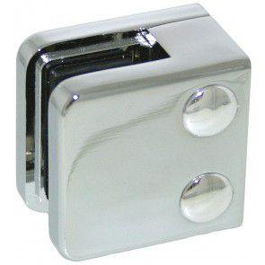 Pince à verre Zamac chromé brillant - Modèle 01 - 45 x 45 mm
