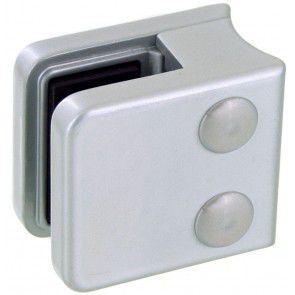Pince à verre Zamac Gris Alu 9006 - Modèle 01 - 45 x 45 mm