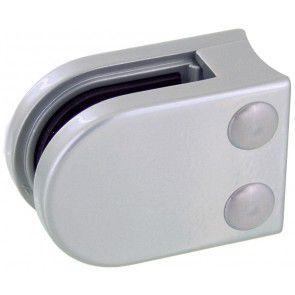 Pince à verre Zamac gris Alu 9006 - Modèle 02 - 45 x 63 mm