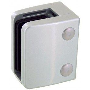 Pince à verre Zamac gris alu 9006 - Modèle 04 - 70 x 55 mm