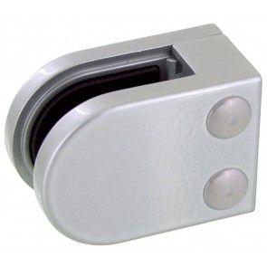 Pince à verre Zamac gris alu 9006 - Modèle 05 - 45 x 63 mm