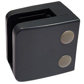 Pince à verre Zamac Gris Anthracite 7016 - Modèle 06 - 55 x 55 mm