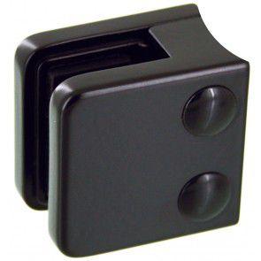 Pince à verre Zamac Noir 9005 - Modèle 01 - 45 x 45 mm