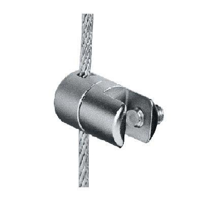 Pince simple orientable sur câble Ø3 mm